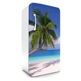 Samolepiace tapety na chladničku pláž rozmer 120 cm x 65 cm