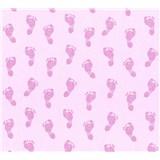 Detské vliesové tapety na stenu Little Stars detské stopy ružové