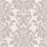 Vliesové tapety na stenu LIVIO zámocký vzor hnedý na krémovom podklade - POSLEDNÉ KUSY