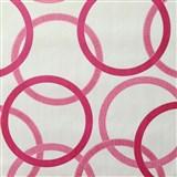 Vliesové tapety na stenu Summer Special - kruhy ružové