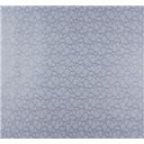 Vliesové tapety na stenu Messina kašmírový vzor malý modro-strieborný-ZĹAVA