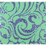 Vliesové tapety na stenu Messina ornament veľký neónovo zelený