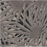Vliesové tapety na stenu IMPOL Metropolitan Stories palmové listy sivé na čiernom podklade