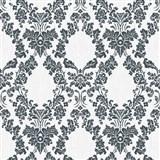 Vliesové tapety na stenu Mixing ornamenty čierne na bielom podklade - POSLEDNÉ KUSY
