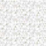 Vliesové tapety na stenu Modern trojuholníky sivo-hnedé so vzorom