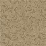 Vliesové tapety na stenu Nabucco malý vejárovitý vzor zlatý