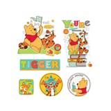 Samolepky na stenu detské - medvedík Pú a Tiger 30 x 40 cm
