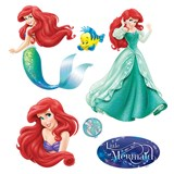 Samolepky na stenu detské - princezná Ariel 30 x 40 cm