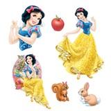 Samolepky na stenu detské - princezná Snehulienka 30 x 40 cm