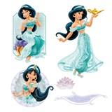 Samolepky na stenu detské - princezná Jasmína 30 x 40 cm