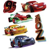 Samolepky na stenu detské - NEON Cars 30 x 40 cm