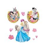 Samolepky na stenu Princezná a kôň rozmer 30 x 40 cm