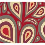 Vliesové tapety NENA kvapky červené