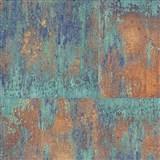 Vliesové tapety na stenu NEUE BUDE 2.0 betónová stena zeleno-tarakotová