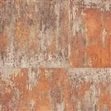 Vliesové tapety na stenu NEUE BUDE 2.0 betónová stena oranžovo-zlatá