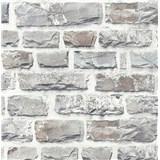 Vliesové tapety na stenu NEUE BUDE 2.0 tehlová stena svetlo sivá