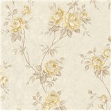 Vliesové tapety IMPOL Romantico popínavé ruže krémovo-hnedé