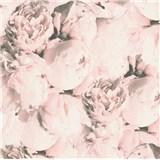 Vliesové tapety IMPOL New Studio pivonky ružovo-čierne