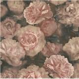 Vliesové tapety IMPOL New Studio kvetinový vzor ružovo-čierny