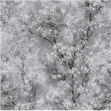 Vliesové tapety IMPOL New Wall florálny vzor čierno-biely