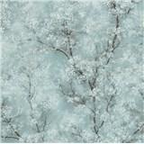 Vliesové tapety IMPOL New Wall florálny vzor tyrkysový