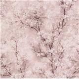 Vliesové tapety IMPOL New Wall florálny vzor ružový
