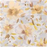 Vliesové tapety na stenu Allure kvety hnedé