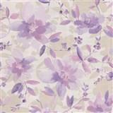 Vliesové tapety na stenu Allure kvety fialové