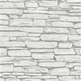 Vliesové tapety na stenu Belinda kameň ukladaný sivo-biely