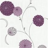 Vliesové tapety na stenu Novara kvety fialové - POSLEDNÉ KUSY