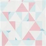 Vliesové tapety na stenu IMPOL Novara 3 geometrický vzor ružovo-modrý