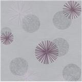 Vliesové tapety na stenu Novara 3 moderné kruhy sivé a fialové s lesklými efektmi
