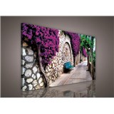 Obraz na stenu lavička v záhrade 75 x 100 cm