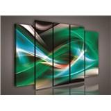 Obraz na plátne abstrakt zelený 150 x 100 cm