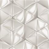 Vliesové tapety na stenu IMPOL Onyx 3D hexagony svetlo sivo-hnedé