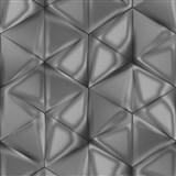 Vliesové tapety na stenu IMPOL Onyx 3D hexagony hnedé