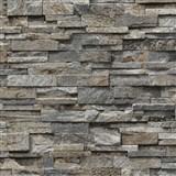 Vliesové tapety na stenu Origin - kameň pieskovec hnedo-sivý
