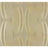 Vliesové tapety na stenu Ornamental Home - elipsy zlaté