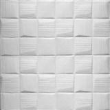 Samolepiace penové 3D panely rozmer 70 x 69 cm, 3D šachovnica biela