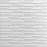 Samolepiace penové 3D panely rozmer 70 x 77 cm, 3D moderné tehly biele
