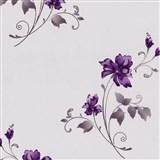 Vliesové tapety na stenu Pure and Easy kvety fialové