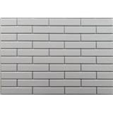Obkladové 3D PVC panely rozmer 440 x 580 mm malá tehla biela so striebornou škárou