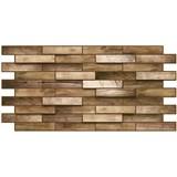 Obkladové 3D PVC panely rozmer 980 x 480 mm obklad dub rustikal