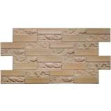 Obkladové 3D PVC panely rozmer 955 x 490 mm pieskovcový kameň hnedý