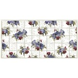 Obkladové 3D PVC panely rozmer 964 x 484 mm kvety videcké