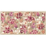 Obkladové 3D PVC panely rozmer 964 x 484 mm kvety kosatca bordové
