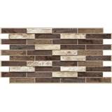 Obkladové 3D PVC panely rozmer 980 x 480 mm drevený obklad dub Toffee