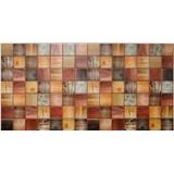 Obkladové 3D PVC panely rozmer 955 x 480 mm drevený trám morený