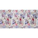 Obkladové 3D PVC panely rozmer 964 x 484 mm kvety hortenzie