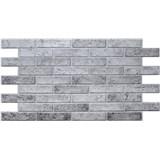 Obkladové 3D PVC panely rozmer 962 x 499 mm tehla sivá